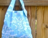 Blue Floral Shopping Bag