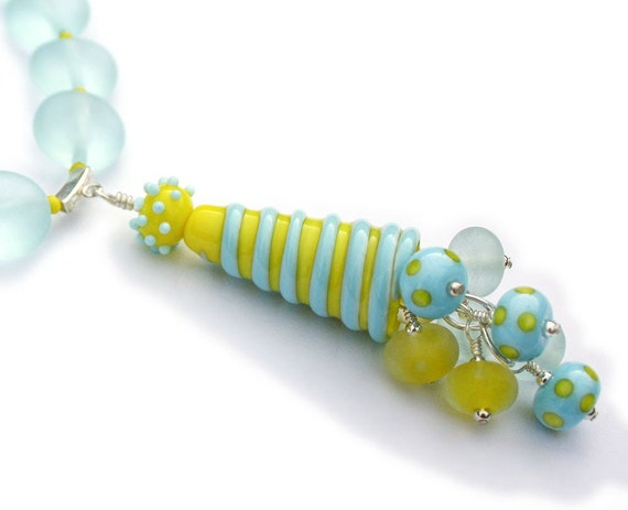 Reserved For Tinkerbellbeads Lampwork Glass Necklace