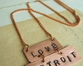 Love Detroit Necklace
