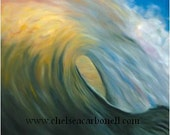 """Wave at Sunset Fine Art Reproduction 20""""x25"""""""