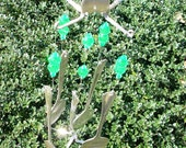 Kiwi Goodness Wind Chime (Silverplate Fork and Spoon)