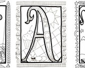 Personalized Illuminated Coloring Poster