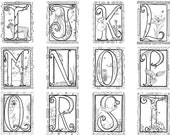 Illuminated Alphabet Coloring Poster