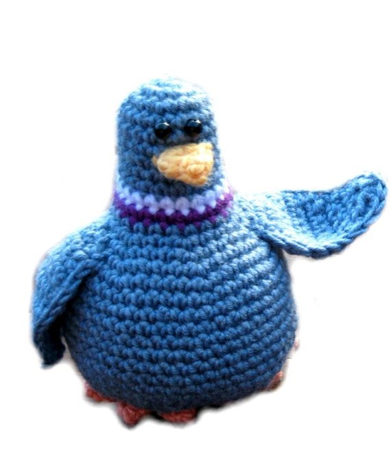 Mr. Pigeon PDF Crochet Pattern by happyturnip on Etsy