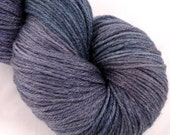 SALE - Bamboo Blend Sock Yarn - Finger Painted Earthy Purples and Blues by Rocket Yarn