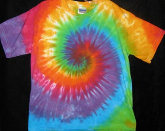 Over the Rainbow Tye Dye Tshirt Youth S, M, L and XL