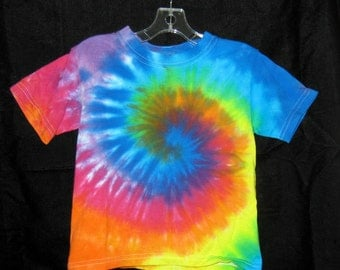 Over The Rainbow Tye Dye  Toddler Tshirt 4T