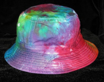Rainbow Tye Dye Bucket Hat Youth and Adult Sizes