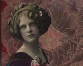 Savannah Rose - collage on canvas