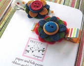 Carnival -Felt Flower Hair Clip Set
