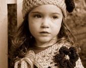 Boutique Custom Crochet Capelet Hat Set DBCB BTS Girls