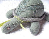 Meet Tom the Turtle The Cutest lil Repurposed Wool stuffie You Ever Have Seen