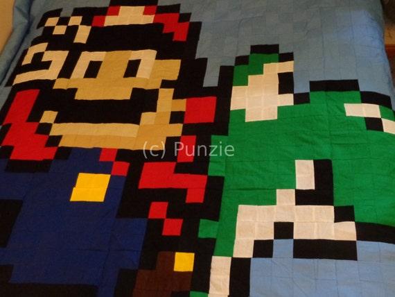 Mario and Yoshi blanket