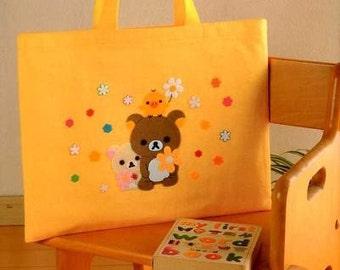 RILAKKUMA BEAR SCHOOL Bags  - Japanese Felt Craft Book