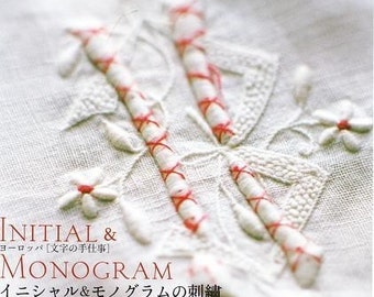 INITIAL and MONOGRAM EMBROIDERY - Japanese Craft Book