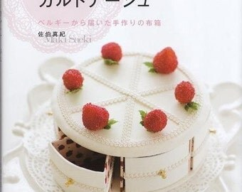 CARTONNAGE BOX SWEETS Motifs -  Japanese Craft Book