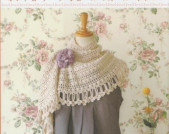 Out of Print CAPE SHAWL STOLE Bolero Vol  2 - Japanese Crochet Book (Easy Crochet Complete in 3days)