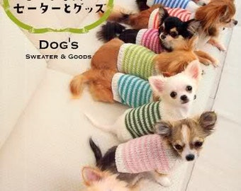 DOG'S SWEATER and Goods - Japanese Dog Clothes Book MM