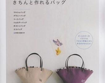 BAGS FOR BEGINNERS - Japanese Craft Pattern Book