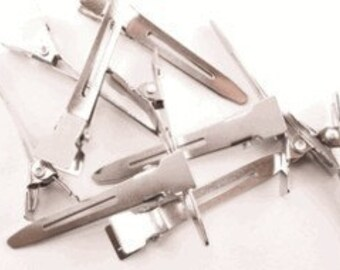 100 pieces - 35mm Single Prong Alligator Pinch Clips - Small Clip - Wholesale Bulk