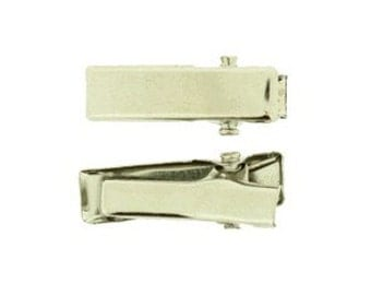 20mm Rectangular Alligator Pinch Clips with teeth - 24 Pieces