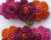 Perubian Doll Handmade Flower Alligator Hair Clips