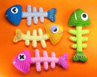 Fish Bone Crochet Pattern - PDF- Instant Download