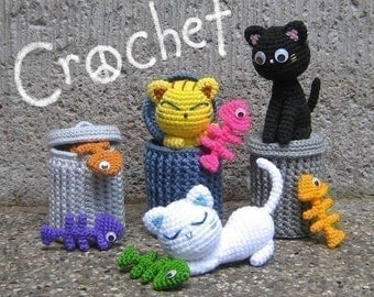 Alley Cats - Amigurumi Pattern - PDF Crochet - Instant Download