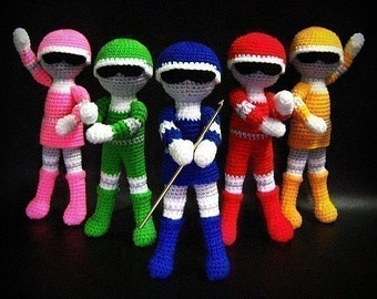 Superhero Team - Amigurumi PDF - Crochet Pattern - Instant Download