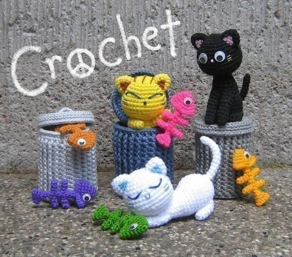 Alley Cats - Amigurumi Pattern - PDF Crochet