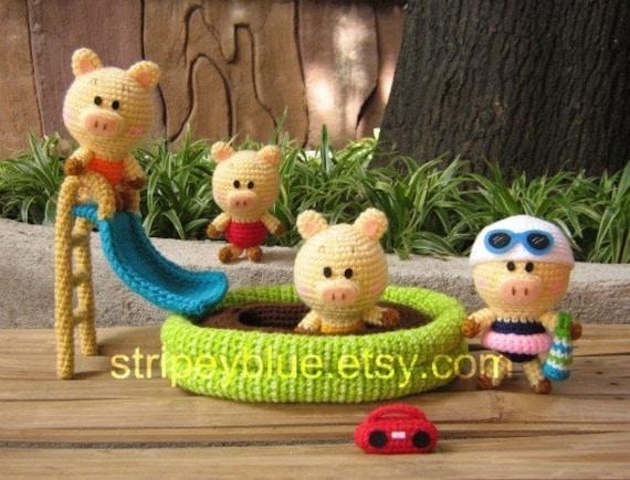 Piggy's Pool - PDF Crochet - Amigurumi Pattern