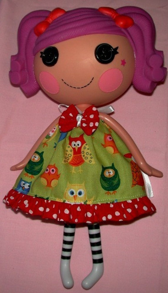 Handmade Pillowcase Dress Sassy Owls For Lalaloopsy Doll