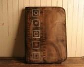RESERVED ---- Portfolio - Leather in Antique Black, Sage, Burgundy - Duomo Pattern