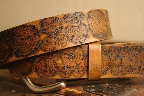 Woody Belt - Leather in Antique Brown
