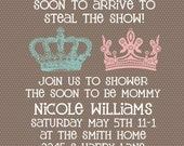 Baby Shower invitation -- Neutral Gender Unknown Shower -- Prince or Princess