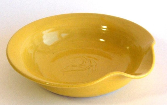 Spoon Rest - Yellow Glaze