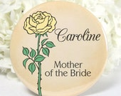 Mother of the Bride Pocket Mirror - Bridesmaid Gifts - Wedding Bridal Party Gifts Favors - No 141