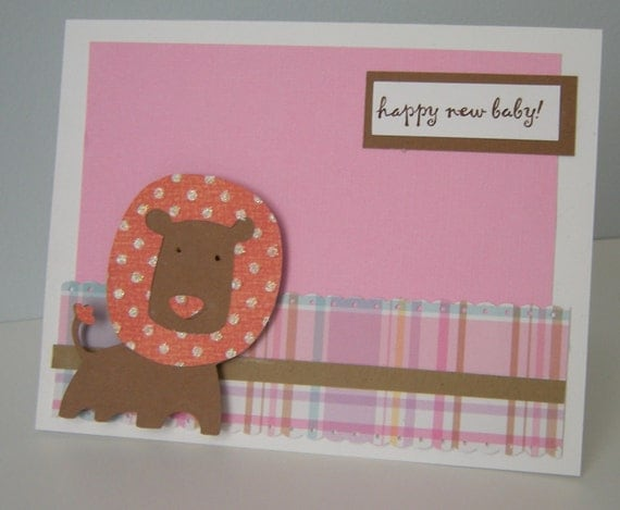 Happy Baby Lion Card-Girl