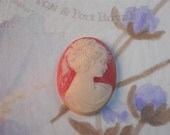 Cameo Female Lady Silhouette Loose Unset 40 x 30mm Greek Greecian Resin Supply