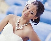 IVORY Teardrop Veil - Brides - Cocktail - Horse Races - Prom - Bridal