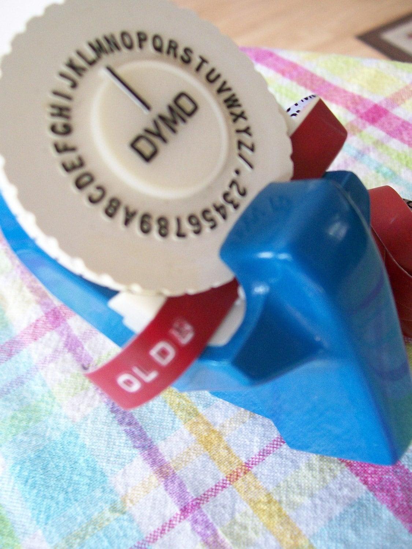 Retro vintage dymo label maker for Letter label maker