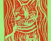 King Cat Orange - Original Print