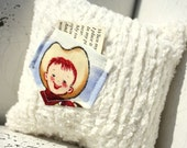 Tooth pillow for boy, Retro cowboy cream chenille tooth fairy pillow for boy by the paisley moon on Etsy