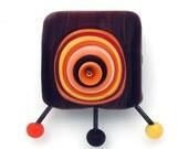 Michal S- Sputnik- Lampwork nugget Focal bead (1)