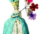 MARIE ANTOINETTE /  EXTRA  FREE GREETING  CARD with REAL FLOWERS buy a SET OF FIVE AND RECEIVE AN EXTRA ONE FREE