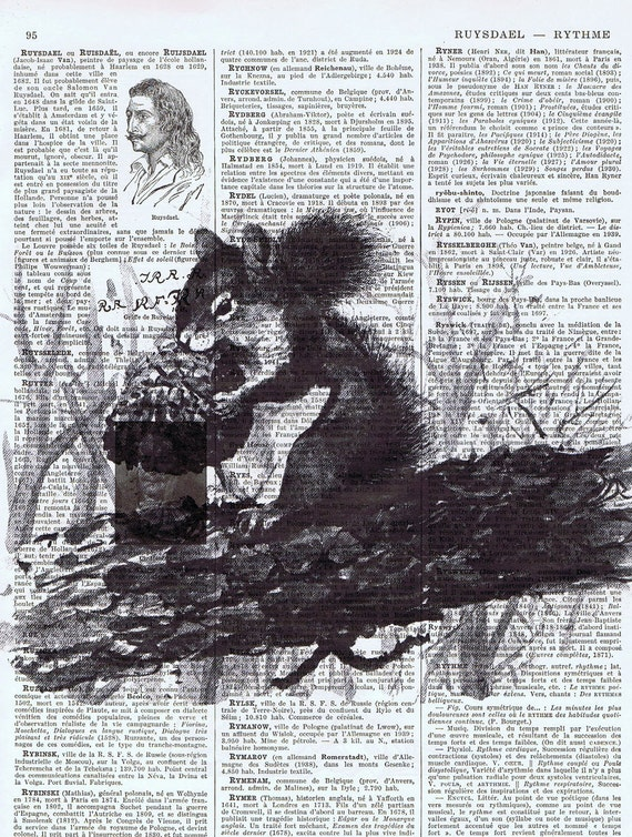 Squirrel, Antique Book Page Prints, French.Gift  / Repurposed Vintage. tree, home decor, Paris, buy 3 get 1 FREE, Affordable Art