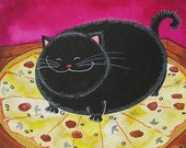 Bad Kitty Got to your Pizza First