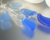 spray seaglass necklace, CUSTOM for BRIE