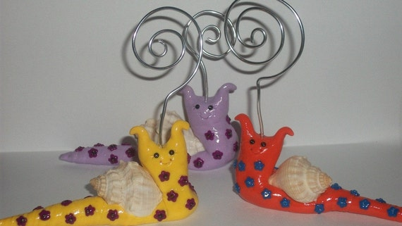 Whimsical snails picture holder