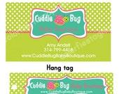 Custom Hang Tag and Business Card design